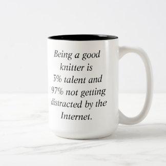 The secret to knitting success revealed Two-Tone coffee mug