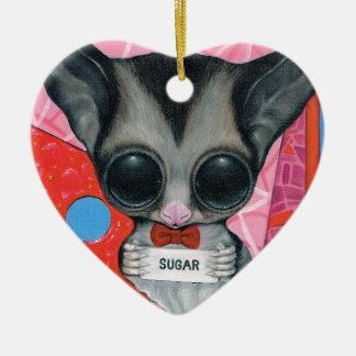The Secret Word Ceramic Heart Decoration