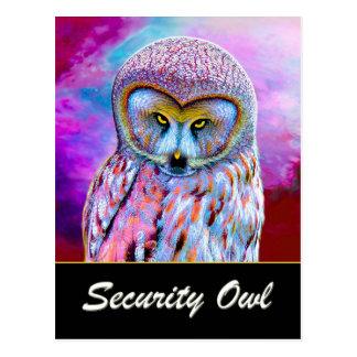 The Security Owl Postcard