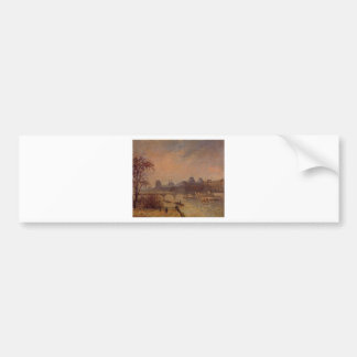 The Seine and the Louvre, Paris Camille Pissarro Bumper Sticker