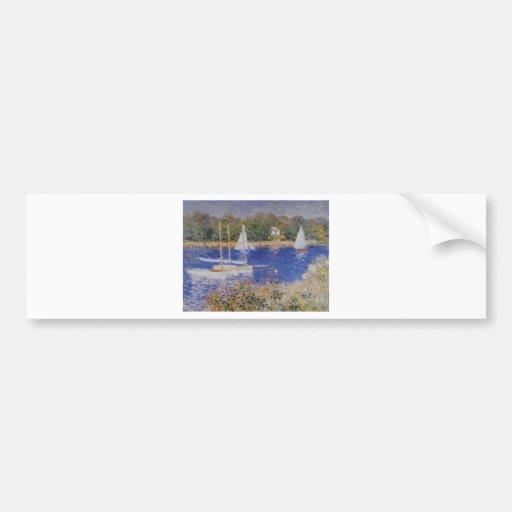 The Seine at Argenteuil, Claude Monet Bumper Sticker