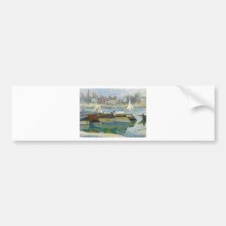 The Seine at Asnieres by Claude Monet Bumper Sticker
