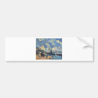 The Seine at Bercy by Paul Cezanne Bumper Sticker