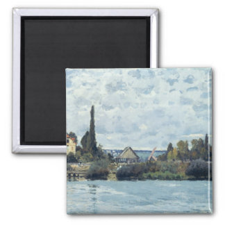 The Seine at Bougival, 1873 Square Magnet
