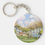 The Seine At Bougival,  By Sisley Alfred Key Chains