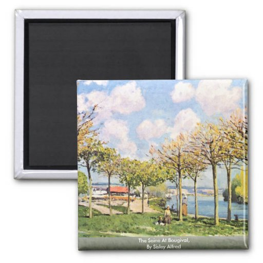 The Seine At Bougival,  By Sisley Alfred Refrigerator Magnet