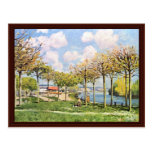 The Seine At Bougival,  By Sisley Alfred Postcard