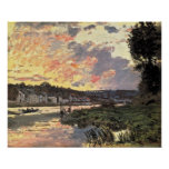 The Seine at Bougival in the Evening (1870) Poster