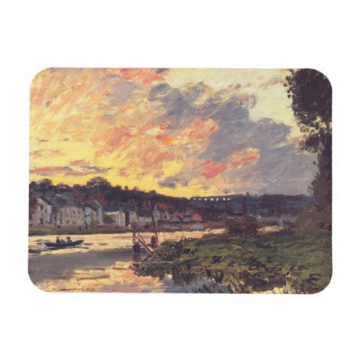 The Seine at Bougival in the Evening Rectangle Magnets