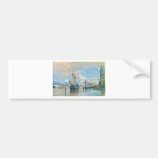 The Seine at Rouen by Claude Monet Bumper Sticker