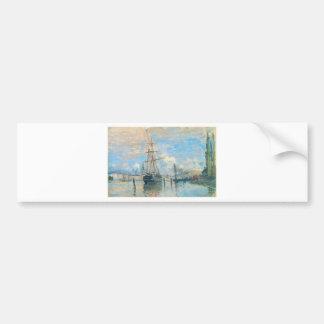 The Seine at Rouen by Claude Monet Bumper Sticker