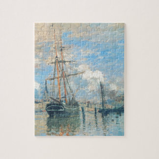 The Seine at Rouen by Claude Monet Jigsaw Puzzle