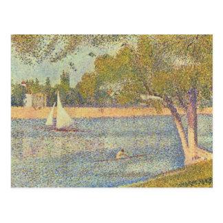 The Seine at the Grande Jatte Postcard