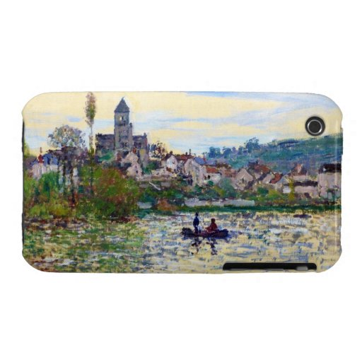 The Seine at Vetheuil  Claude Monet iPhone 3 Case