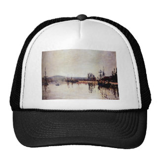 The Seine Below Rouen by Claude Monet Cap