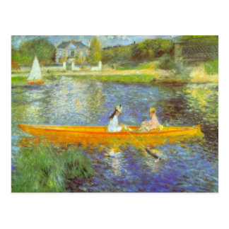 The Seine by Pierre Renoir Postcard