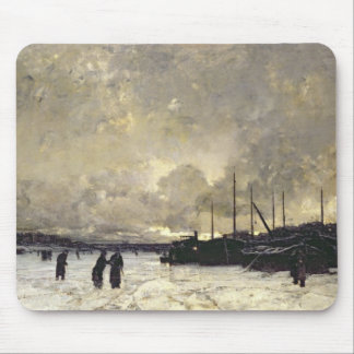 The Seine in December, 1879 Mouse Mat