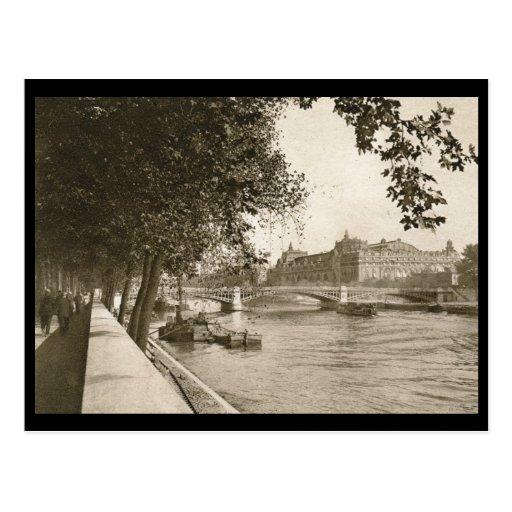 The Seine, Paris, France Vintage Postcards