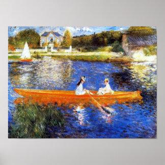 The Seine River At Asnieres Renoir Fine Art Poster