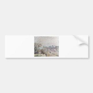 The Seine Viewed from the Pont Neuf, Winter Bumper Sticker