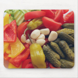 The selection of vegetables. mouse mat