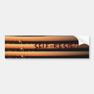 The Self-Respect Bumper Sticker