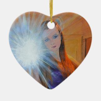 The Selfie Ceramic Heart Decoration