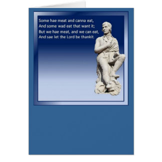 The Selkirk Grace Greeting Card