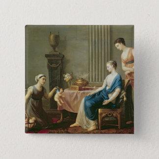The Seller of Loves, 1763 15 Cm Square Badge