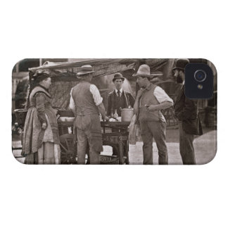 The Seller of Shellfish, from 'Street Life in Lond iPhone 4 Case-Mate Case