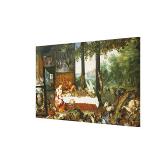 The Sense of Taste, 1618 Canvas Print