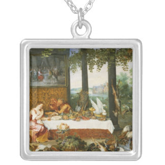 The Sense of Taste, 1618 Silver Plated Necklace