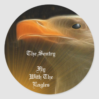 The Sentry / Fly With The Eagles Round Sticker