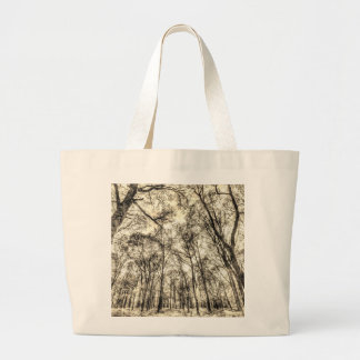 The Sepia Forest Large Tote Bag