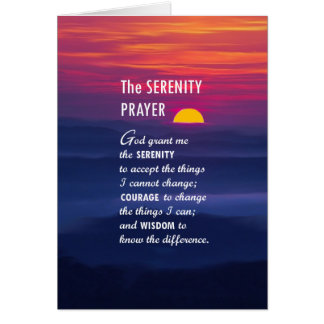 The Serenity Prayer 2 Card