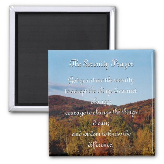 The Serenity Prayer autumn magnet
