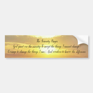 The Serenity Prayer  Bumper sticker
