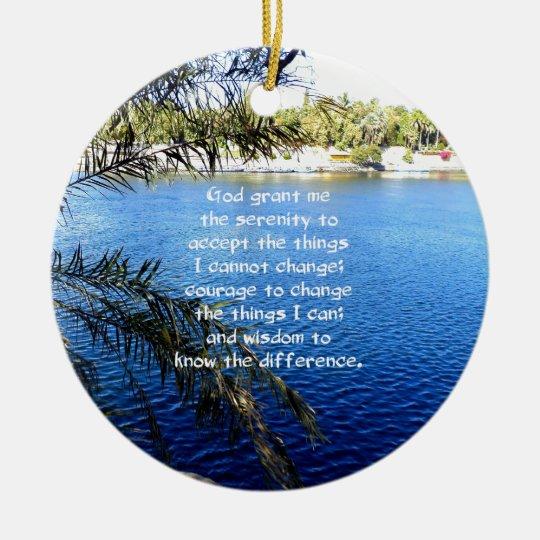 The Serenity Prayer Christmas Ornament | Zazzle.co.uk