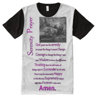 The Serenity Prayer Hammer Purple Print All-Over Print T-Shirt