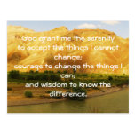 The Serenity Prayer Post Card