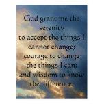 The Serenity Prayer Post Cards