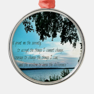 The Serenity Prayer Silver-Colored Round Decoration