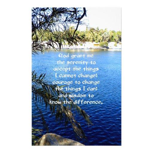 The Serenity Prayer Stationery Paper