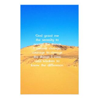 The Serenity Prayer Custom Stationery