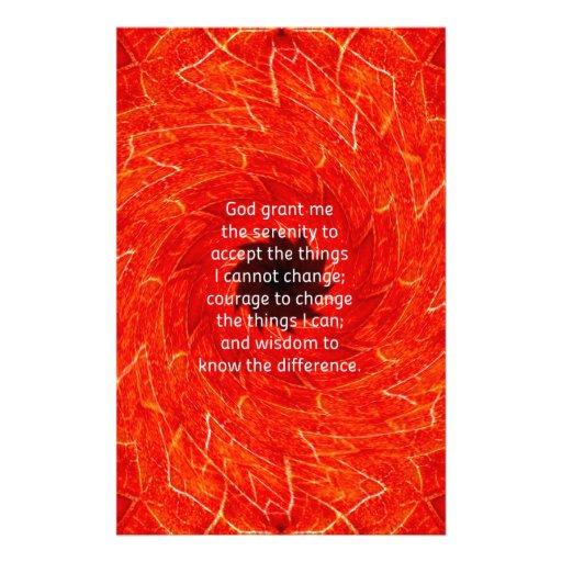 The Serenity Prayer Stationery