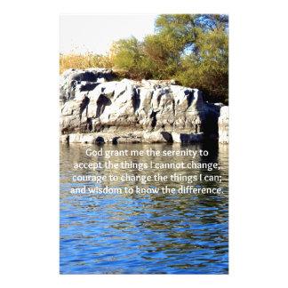The Serenity Prayer Personalized Stationery