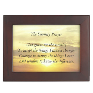 The serenity prayer trinket box