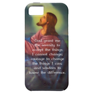 The Serenity Prayer With Jesus Christ Painting iPhone 5 Cover