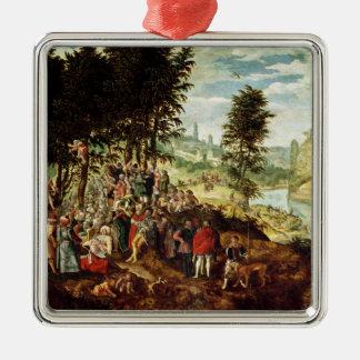 The Sermon of St. John the Baptist, c.1550 Christmas Ornament