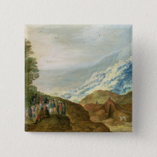 The Sermon on the Mount 15 Cm Square Badge